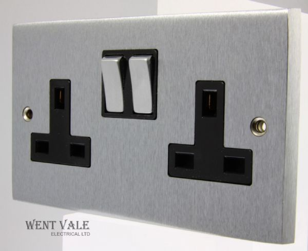 Heritage Brass Victorian Elite Range - R03.850.SCBK - 13a Twin Switched Socket